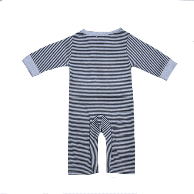 2017 Autumn Clothes Boy Baby Rompers Cartoon Cow Pattern Jumpsuit+Cap Stripe Rompers Brand Newborn Long Sleeve Clothing Girls