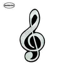 HotMeiNi 15x7.5cm Car Styling 3D Car Sticker Impermeabile Divertente Note Musica Chiave Di Sol G Paraurti Porte E Finestre Accessori