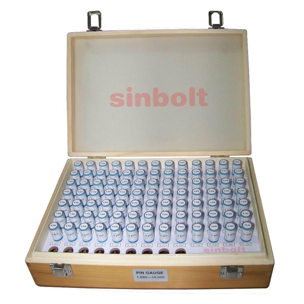 Zestaw mierników wtyczek / mierników pinowych, 1.000 mm - 10.000 mm (Interwał: 0,1,91 sztuk), szybka dostawa!