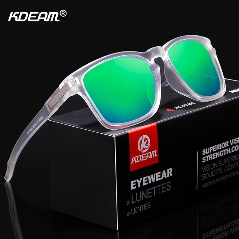 Kdeam unissex-ajuste design óculos de sol polarizados olhar limpo shatter-resistente óculos de sol homem esporte tons lentes de sol