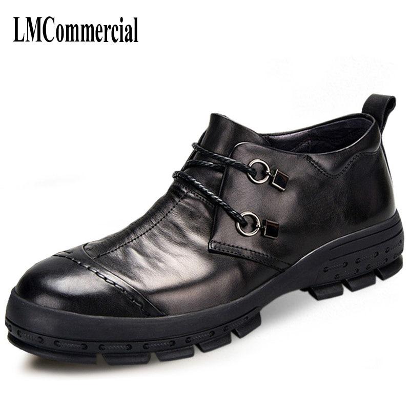 Nouveaux hommes d'affaires chaussures décontractées en cuir chaussures hommes printemps et automne britannique rétro respirant à la main mode-in Chaussures décontractées homme from Chaussures    1