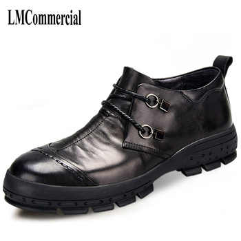new men's business casual shoes leather shoes men spring and autumn  British retro breathable handmade fashion - DISCOUNT ITEM  30% OFF All Category
