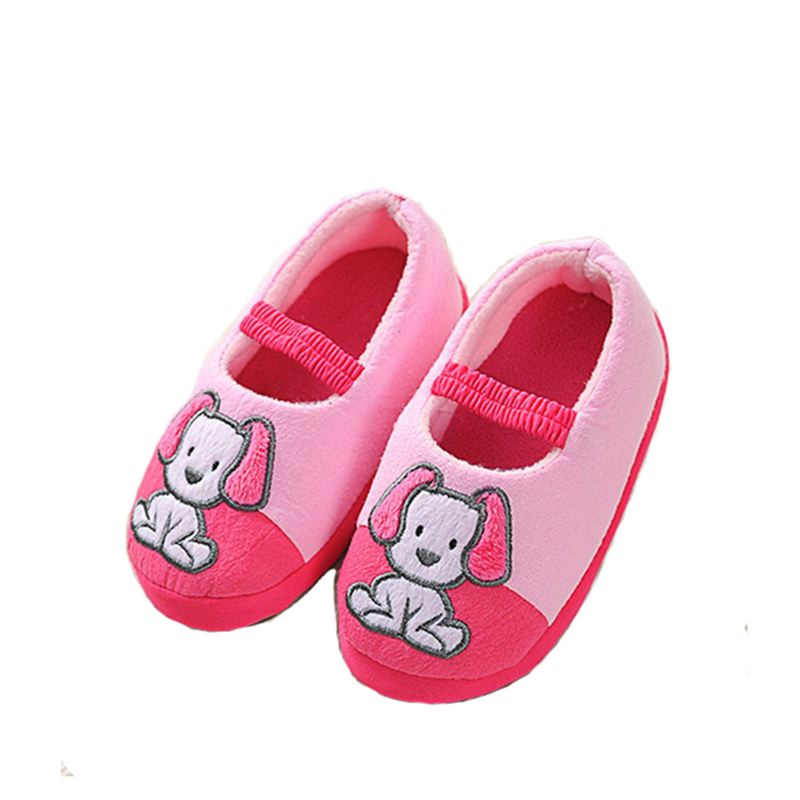 JUFOYU Kids Slippers Children Home Slippers Girls Warm Winter Shoes For Boys  Indoor House Bedroom Baby Soft Flats Animal Dog 8d02dfa93bd2
