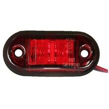 12V / 24V 2 LED Side Marker Lights Lamp For Car Truck Trailer E-marked Red