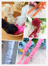 Elastic crystal yarn lace skirt lace