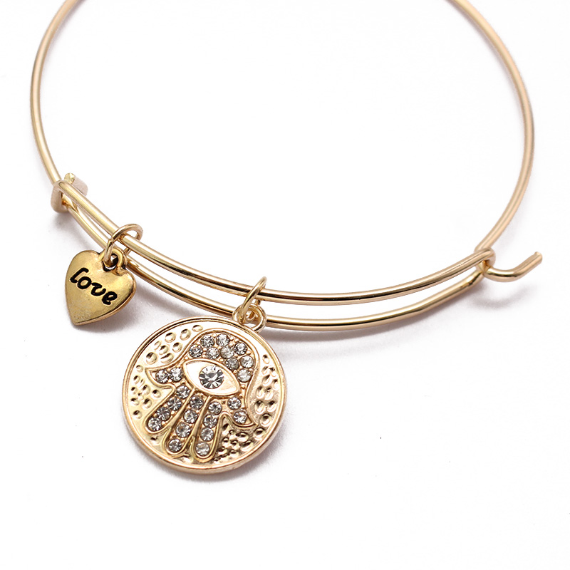 Women's Hamsa Hand Bangle Bracelet 2