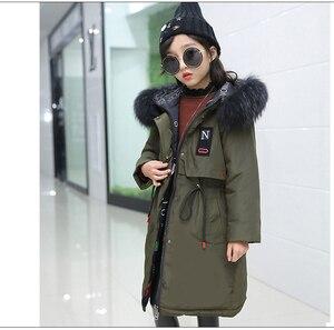 Image 4 - סופר עבה חורף מעיל מעילי הפיך בנות פרווה סלעית רוסית בנות חורף מעיל ילדי מעיל למטה מעיילי מעיל ארוך