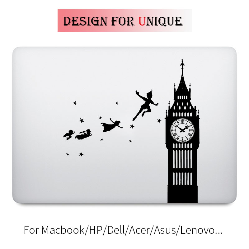 Peter Pan Flying to Never Never Land Laptop Decal for font b Apple b font font