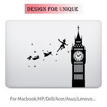 Peter Pan Flying to Never Never Land Laptop Decal for Apple Macbook Pro Air Retina Touch Bar 11 12 13 15 inch Mac Art Skin Decal