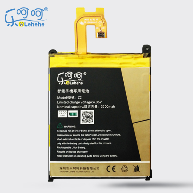 LEHEHE Battery For Sony Xperia Z2 L50 L50W L50U L50T D6502 D6503 LIS1543ERPC 3200mAh Replacement Batteries Free Tools Gifts