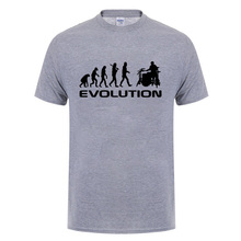 b7191e9773 Cool Music Humor Drums Evolution T Shirt Funny Birthday Gifts For Men Women  Drummer Summer Short