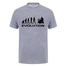 6658b39fa Cool Music Humor Drums Evolution T Shirt Funny Birthday Gifts For Men Women  Drummer Summer Short