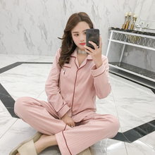 Maternity Nursing long sleeve 2pcs/set Pregnant Womens side Left and right open Sleepwear Breastfeeding pajamas set for Pregnan