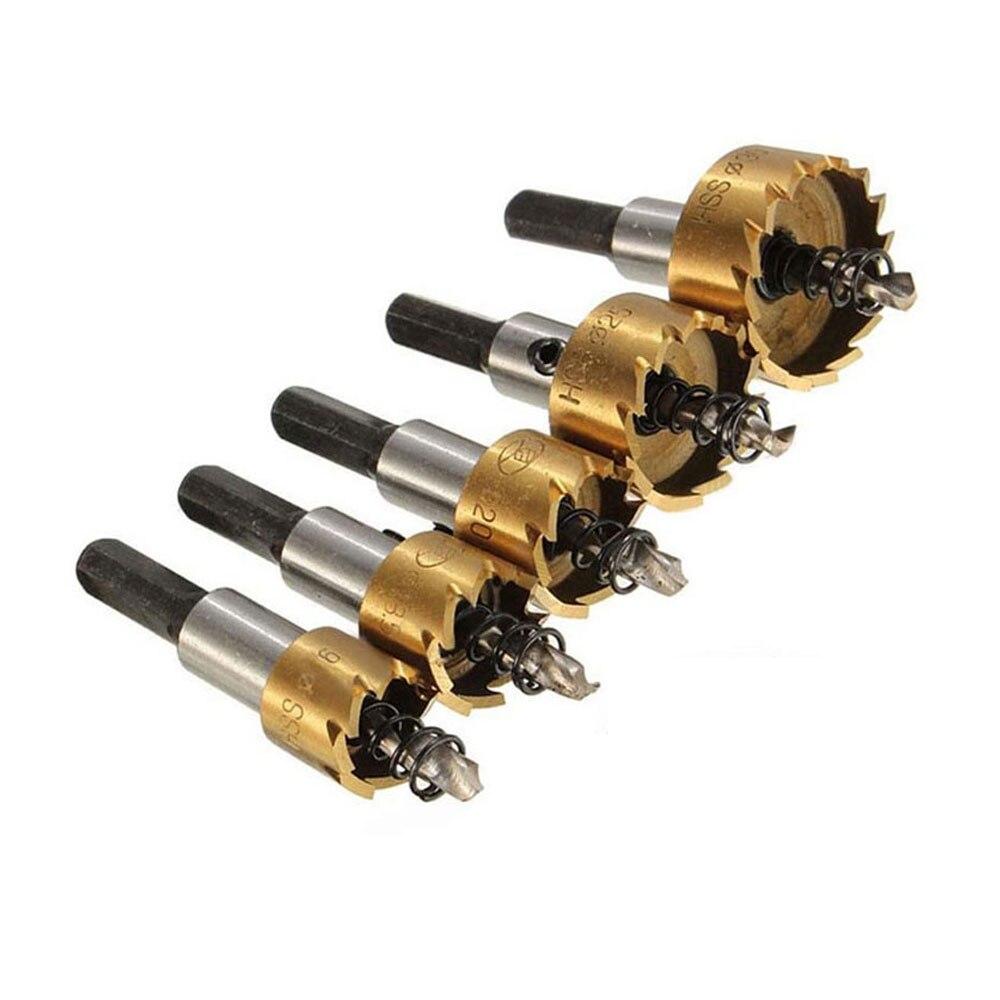 BINOAX Carbide Tip HSS Drill Bit Saw Set Metal Wood Drilling Hole Cut Tool For Installing Locks 16/18.5/20/25/30mm