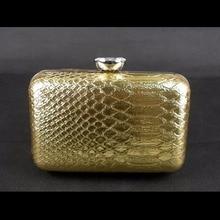 1463G Gold Schlange muster Dame Fashion Hochzeit Braut Party Night clutch geldbörse handtasche IN KOSTENLOSER VERSAND