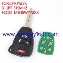 M3N5WY72XX дистанционного ключа для chrysler 3 + 1 кнопку 315 мГц с 46 чип