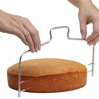Новые регулируемые металлические инструменты для резки тортов из нержавеющей стали с двойной линией, приспособление для резки тортов, форма для украшения выпечки, кухонный инструмент для приготовления пищи
