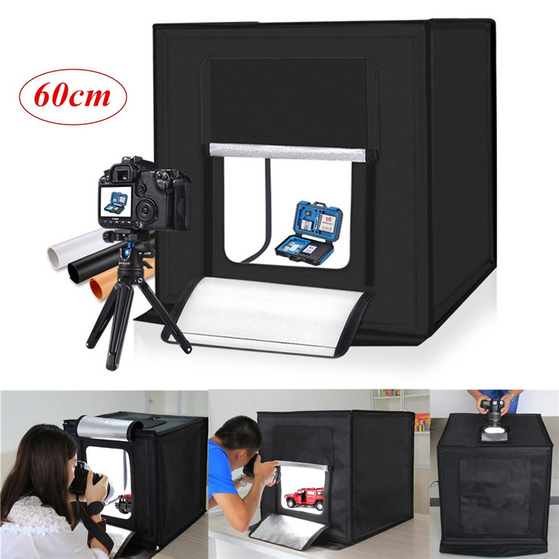 New 60x60x60cm Portable Photography Studio Set 5500K Led Light Studio Photography Light Box Mini Backdrop Tent Cube Light Box лейка белцентромаш 1038 5 2