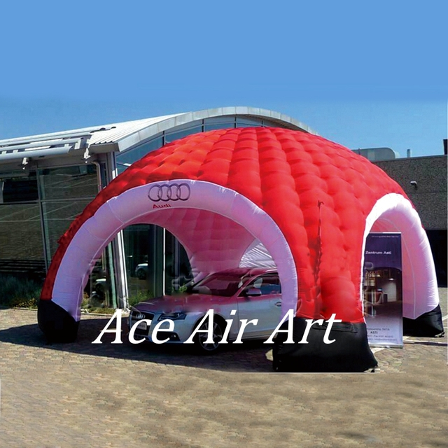 Portable and New shape led lights inflatable garage coverigloo dome tent for luxurious car & Portable and New shape led lights inflatable garage coverigloo dome ...