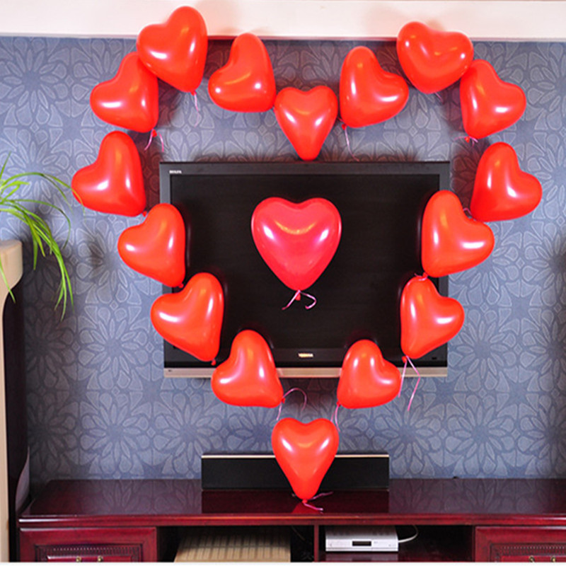 Hot Red 5PCs 10 Heart Shape Wedding Birthday Party Decoration Globos Party Balloon Home Decor Event & Party Supplies Ballons