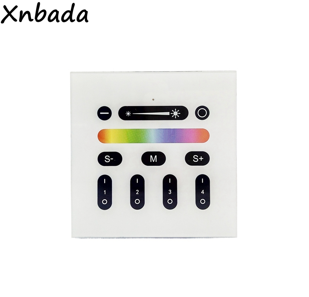 2.4G RGBW Led Wall Mount Touch Panel Controller Compatible With All Mi.light Series RGB RGBW RGBWW Led Bulb Led Controller