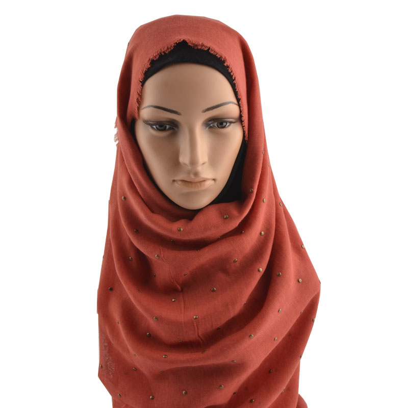 Winter 2019 from india cotton hijab paillette soft underscarf cotton scarf with studs Muslim hijab head