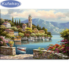 5d diy Diamond Painting Cross Stitch Sailing Seascape Rhinestone Crystal Needlework Embroidery Full Decorative