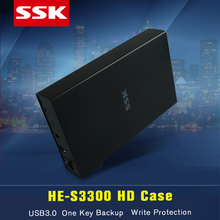 "SSK HE-S3300 USB 3.0 HDD Enclosure SATA External 3.5"" HDD Case Up to 5.0 Gbps 3.5 inch Hard Disk Box for laptops for tablet OTB"
