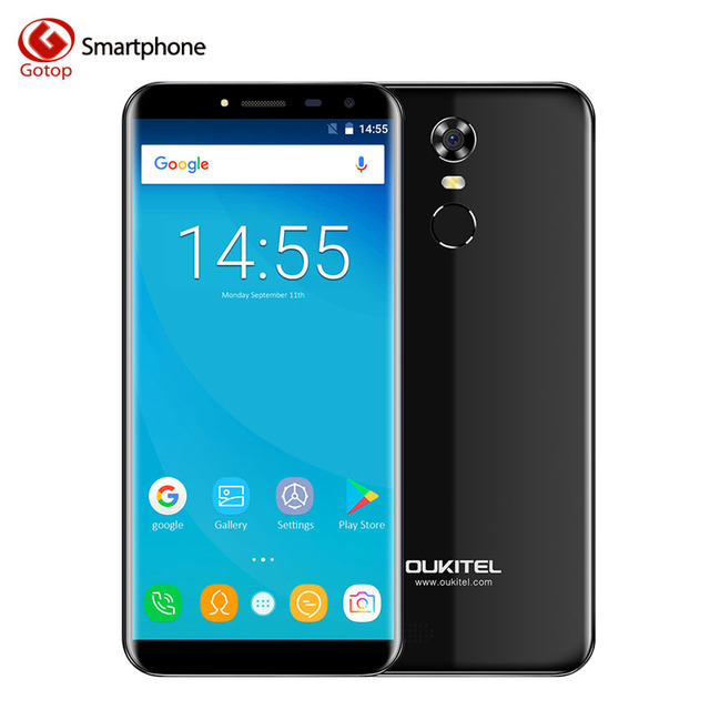 Oukitel C8 4G MT6737 Quad Core Smartphone Android 7.0 18:9 Infinity Display Mobile Phone 2GB RAM 16GB ROM Fingerprint Cell Phone