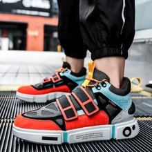 Hip Hop Mens Chunky Sneakers Lace Up Casual Shoes Tenis Sapato Masculino Retro High Platform Basket Man Walking