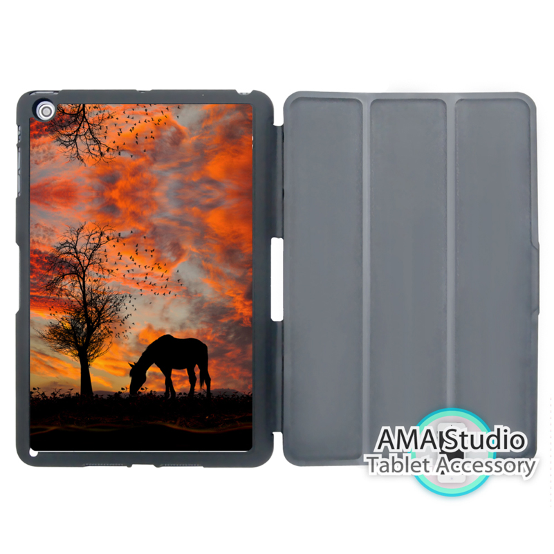Horse Under Sunset Animal Cover Case For Apple iPad Mini 1 2 3 4 Air Pro 9.7 10.5 12.9 2016 2017 a1822 New