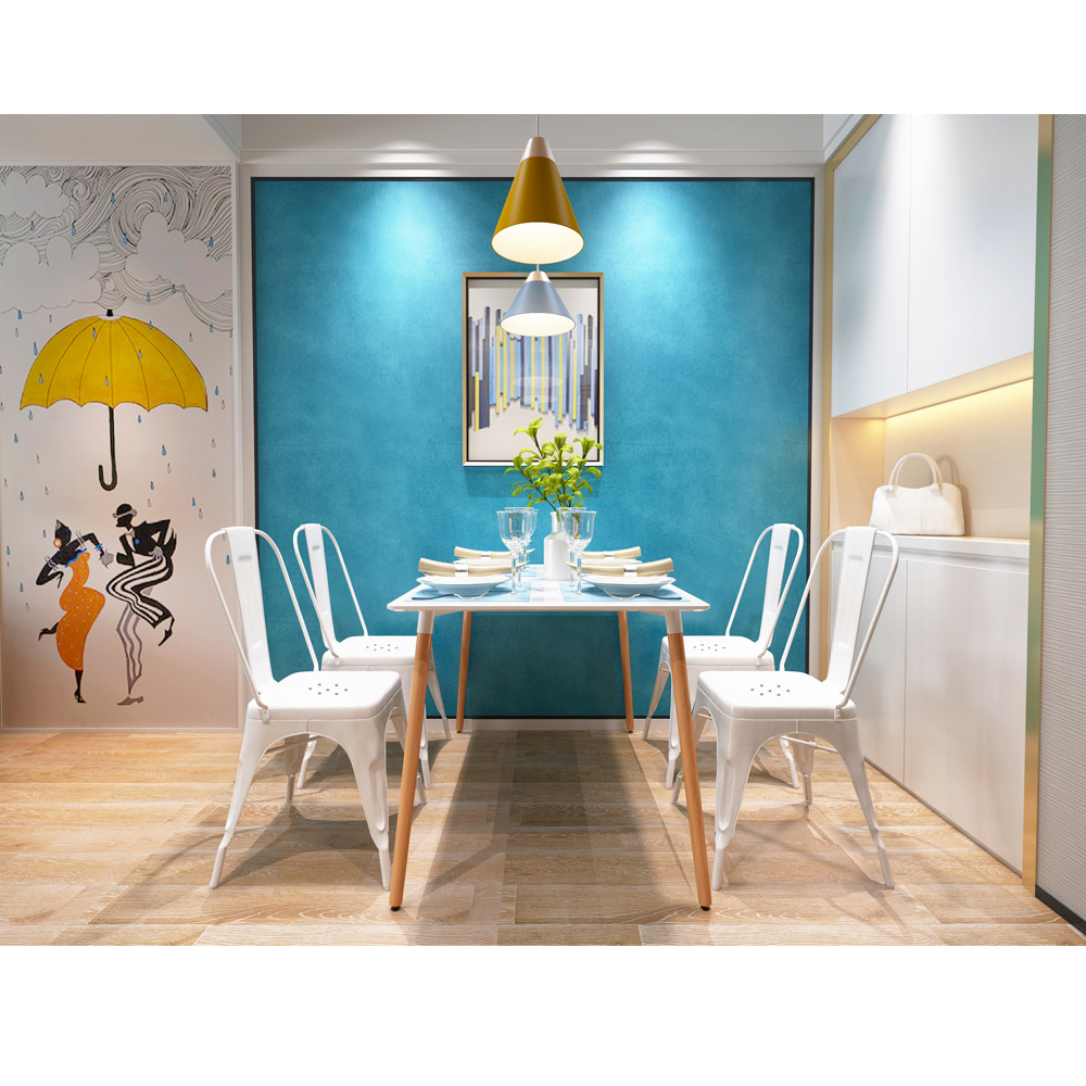 High Quality Dining Furniture: 4 Pieces High Quality Armless Chair Metal Dining Chair