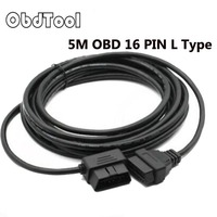 OBDTOOL NEW OBD2 OBDII 16 Pin Extension Cable Male to Female 5M Diagnostic Extender Connector Adaptor Car