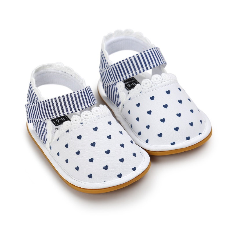 Infant Baby Girl Prewalkers Summer Lovely Shoes Retro Printed Footwear Crib Shoes 0-18 Months New