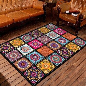 Alfombra Floral Para el hogar Alfombra Para el área de la habitación Alfombra Para el dormitorio gran enrejado Tapete de gato Para Sala Alfombra tapiss