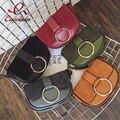 New style design good quality metal ring saddle bag women's handbag purse flap crossbody mini messenger bag 5 shoulder bag