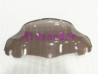 ABS 9 Windshield Windscreen For Harley Electra Street Tri Glide 1996 2015 Smoke Color