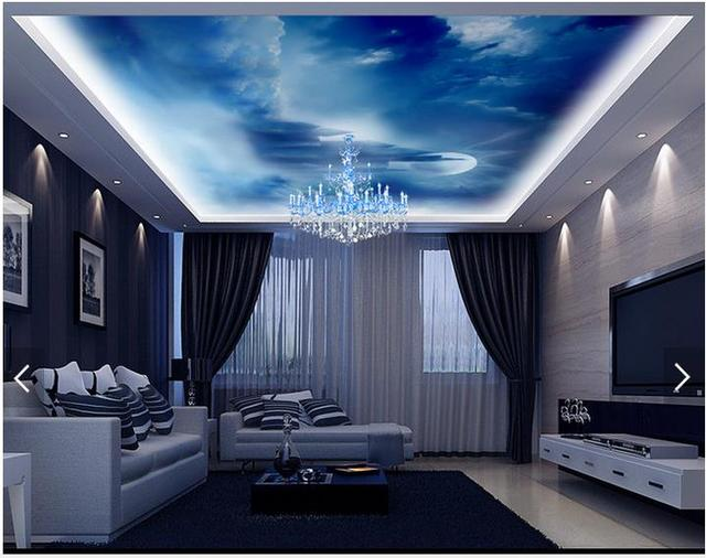 3d fototapete benutzerdefinierte 3d decke tapete wandmalereien dreamy himmel. Black Bedroom Furniture Sets. Home Design Ideas