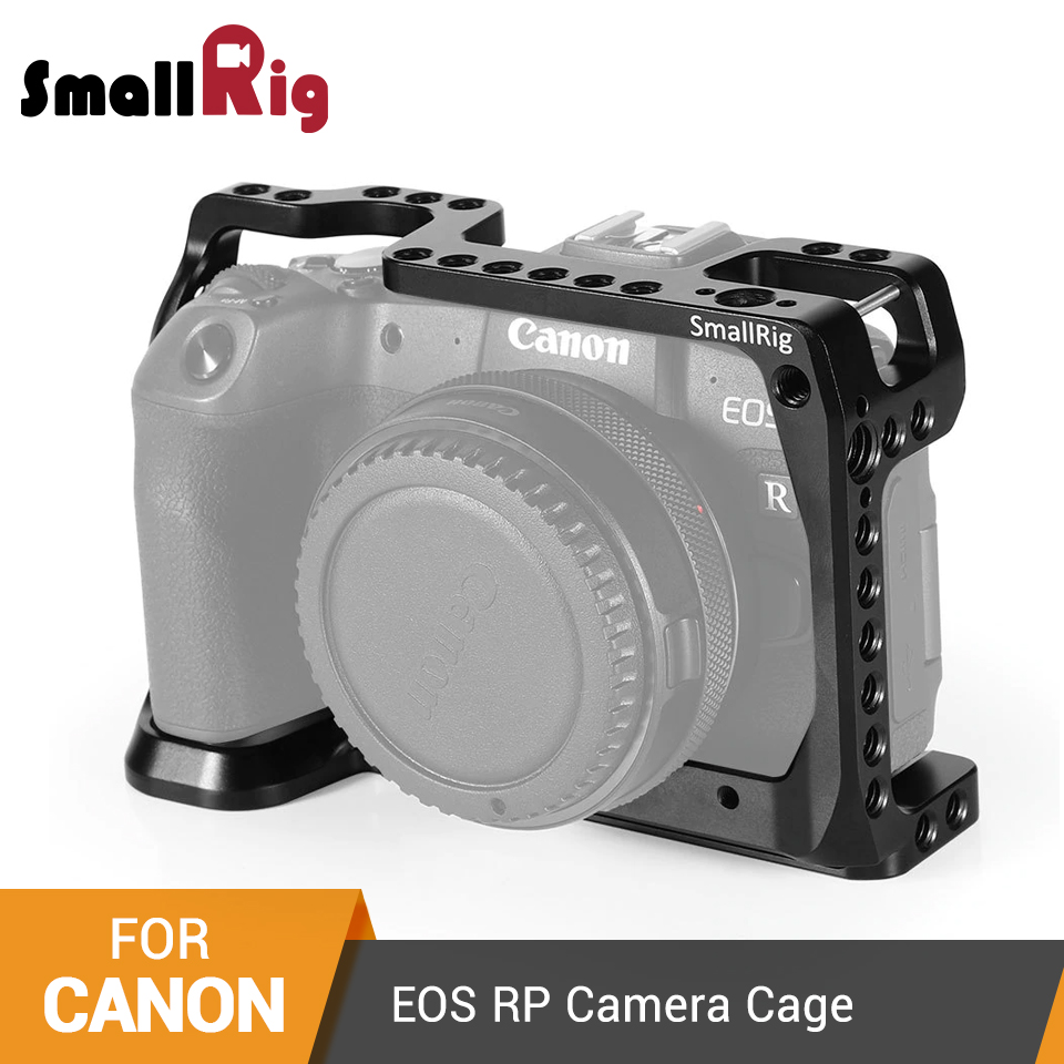 SmallRig Camera Cage For Canon EOS RP Form-fitting Cage With 1/4''-20 & 3/8''-16 Threaded Holes And ARRI Locating Holes- 2332