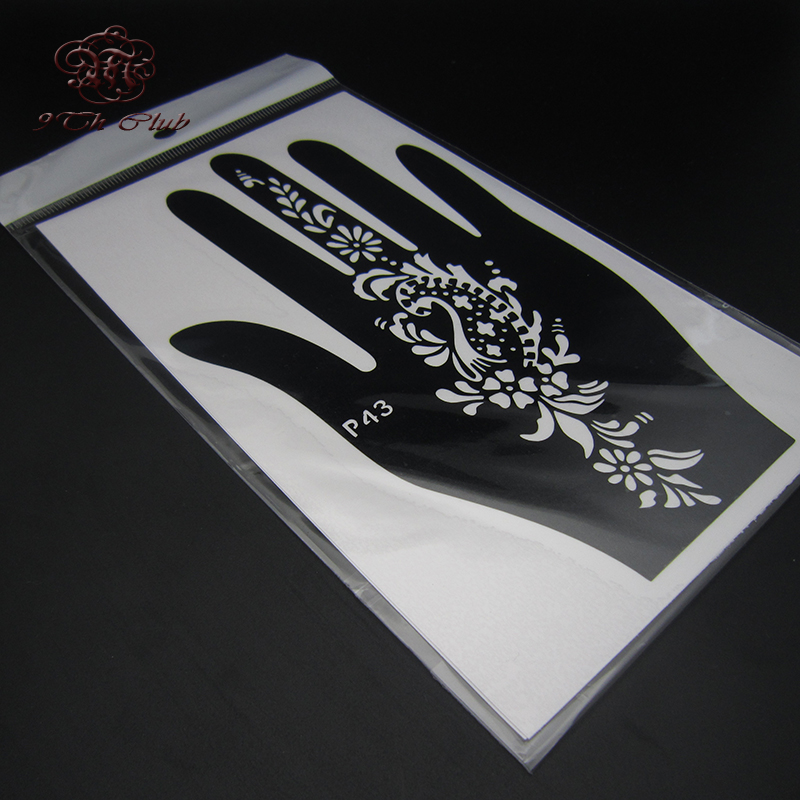 4pcs facile femmes pochoir de tatouage au henné, pochoir - Tatouages et art corporel - Photo 4