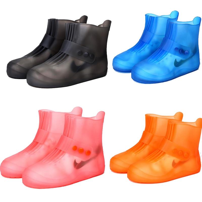 2018 nueva moda Botas de lluvia impermeable antideslizante botas de zapatos de agua zapatos días de lluvia de los hombres y las mujeres los niños cubiertas de zapatos