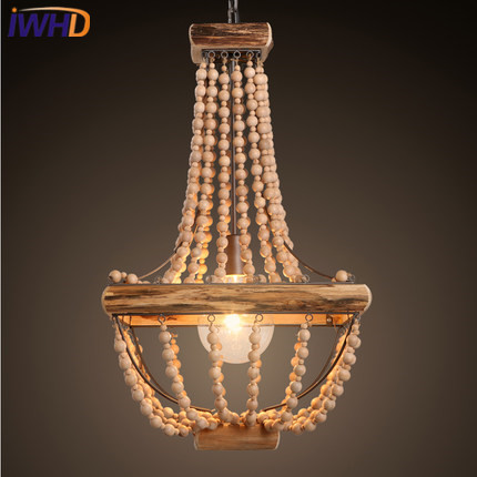 IWHD Wood Modern Pendant Lights LED Hanging Lamp Creative Bedroom Living Room Lampara Home Lighting Fixtures Lampen Iluminacion denmark antique pinecone ph artichoke oak wooden pineal modern creative handmade wood led hanging chandelier lamp lighting light
