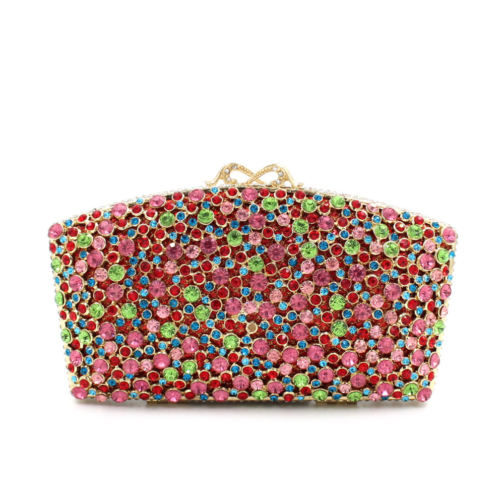 European And American Style Women Evening Bags Minaudiere Ladies Wedding Party Clutch Bag Crystal Diamonds Purses Smyzh-f0107