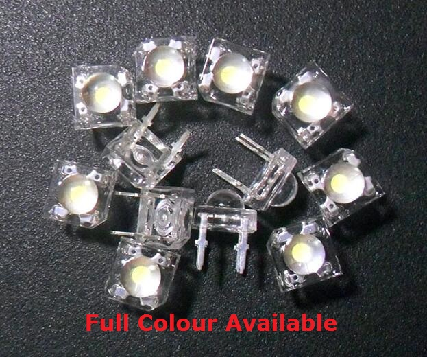 10Pcs 5mm LED Piranha Red Super Flux Transparent 5 mm Ultra Bright Clear Lens LED Light Emitting Diode Lamp Through Hole 4 Pin(China)