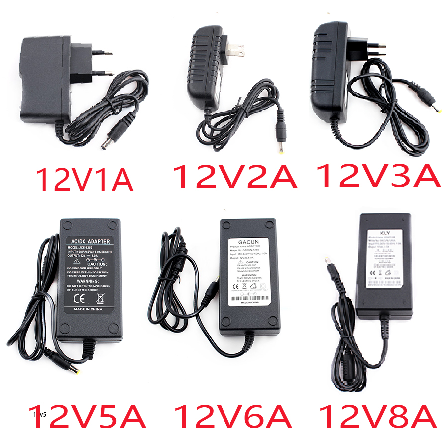AC 220v to 12V <font><b>DC</b></font> Power <font><b>Adapter</b></font> 5V 12V <font><b>24V</b></font> 5A 6A 8A 10A For <font><b>24V</b></font> Led Lamp <font><b>DC</b></font> 12V Power <font><b>Adapter</b></font> Supply Plug For Led Lamp image