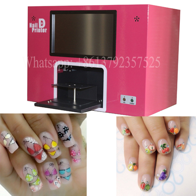free shipping nail art machine with computer inside and touch screen ...