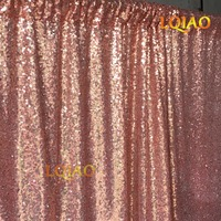 8x8ft Rose Gold Sequin Backdrop Photo Booth Curtain Shimmer Sequin Fabric Photography Wedding Image Decoration More