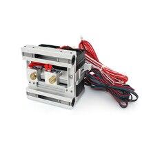 Blurolls 24V 40W All Metal MK10 Dual nozzle extruder For DIY 3D Printer 1.75MM filament
