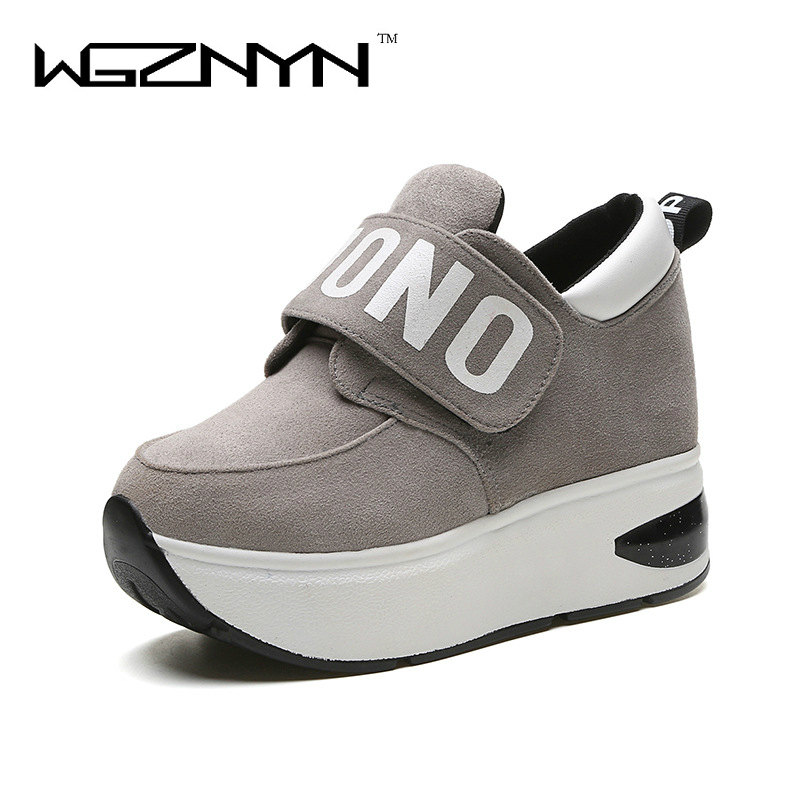 505fcc3fa9b7 WGZNYN/2018 г.; Осенняя обувь на платформе; женская повседневная обувь без  застежки; ...