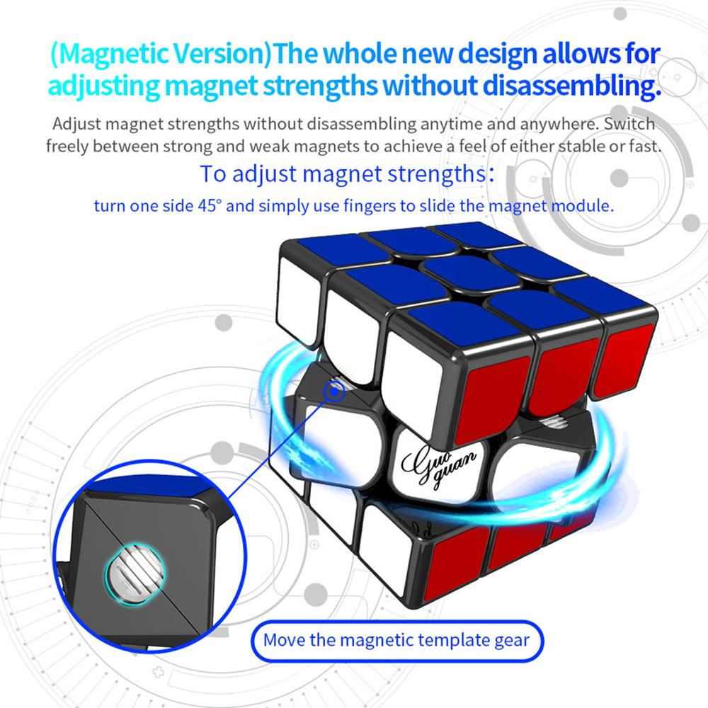 Guoguan Yuexiao EDM GG7007 3x3x3 M Cube magique professionnel 3x3 vitesse Cubes Puzzles 3 par 3 Speedcube